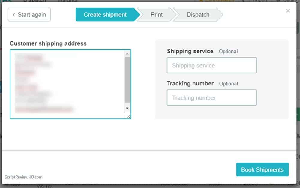 Zenstores manual shipment