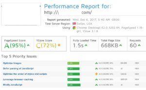 WebHostPython Siteground GTMetrix WPFastestCache plugin