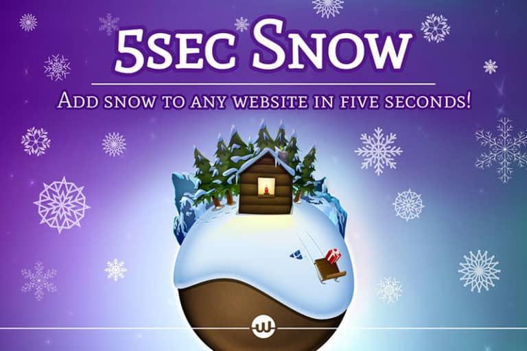 5Sec Snow WordPress Plugin Review