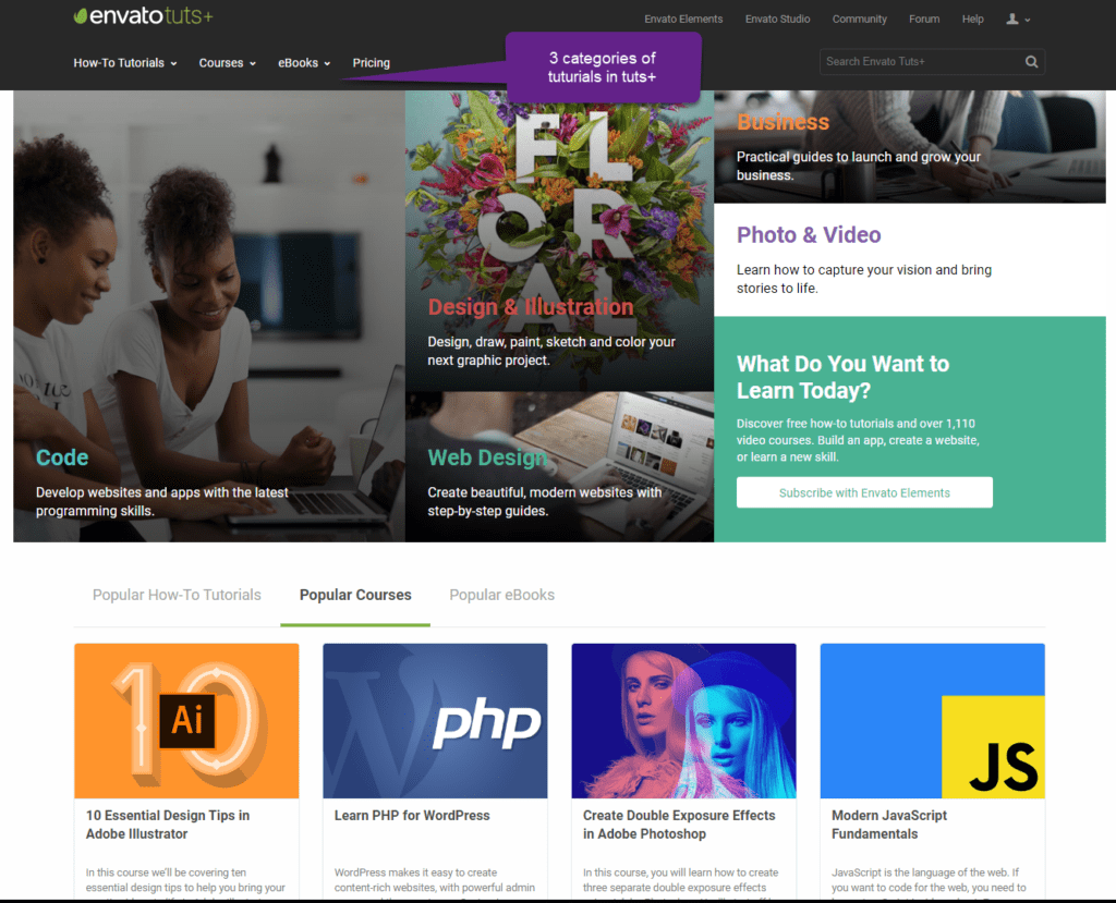 Envato Elements Review - Ebooks & Courses
