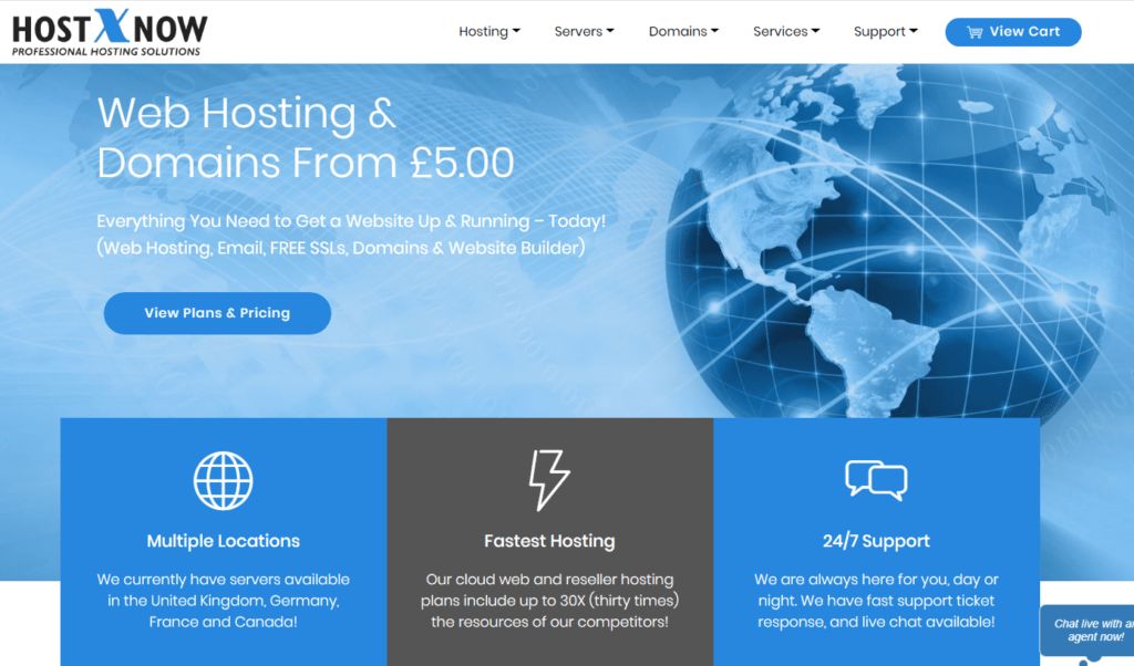 HostXnow UK WordPress SSD Hosting