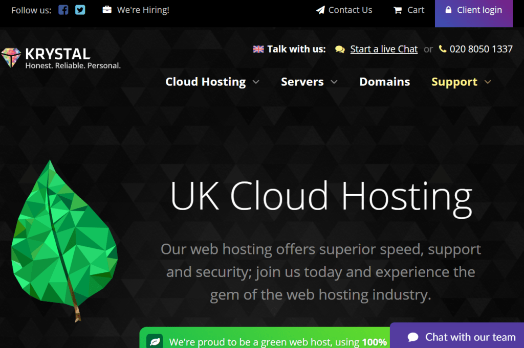 Krystal UK WordPress SSD Hosting
