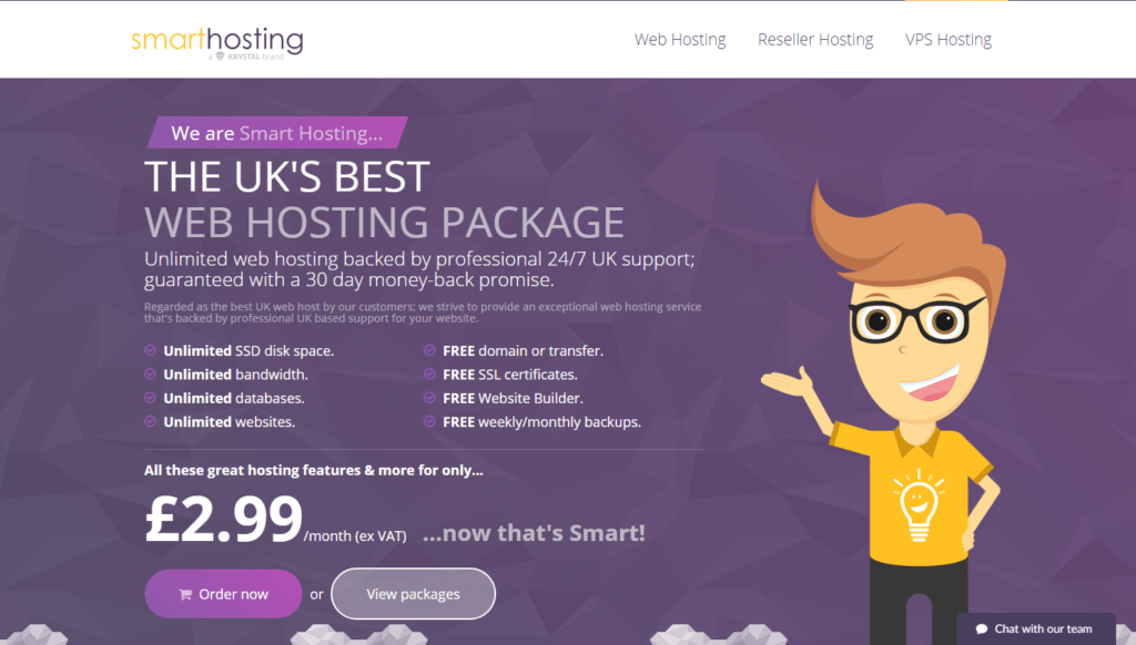 SmartHosting UK WordPress SSD Hosting