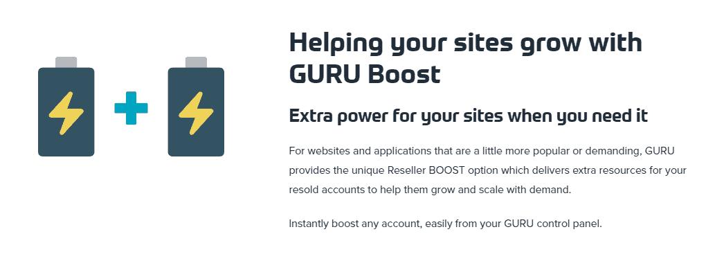 guruhosting review boost